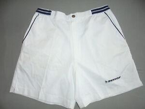 vintage DUNLOP Tennis Shorts Mickey & Co 80s sport pants hose weiß 80er 40 M