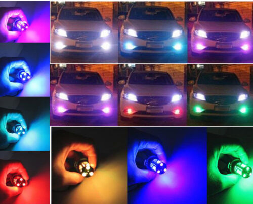 7 Colors RGB H11//H8 LED Bulbs with Wireless IR Remote For Fog Light Driving Lamp