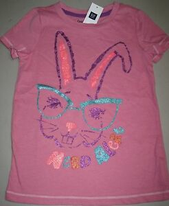 3d2451108 NWT GAP Kids Girls Nerd Alert Bunny Rabbit Graphic Tee Top U Pick ...