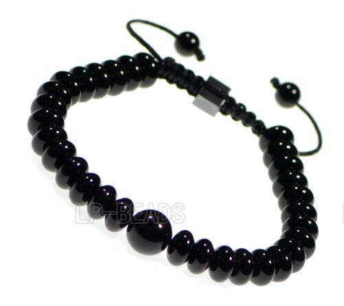 Handmade Men/'s Women/'s 6mm Natural Gemstones Macrame Beads Bracelet Adjustable