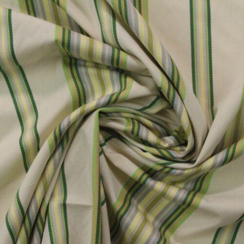 "WAVERLY LIBERTY STRIPE SORREL GREEN YELLOW STRIPE WOVEN FABRIC BY YARD 56/""W"