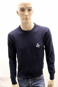 REFRIGIWEAR-Uomo-Maglione-Blu-in-Lana-Taglia-M-Pullover-Felpa-Cardigan-Sweater