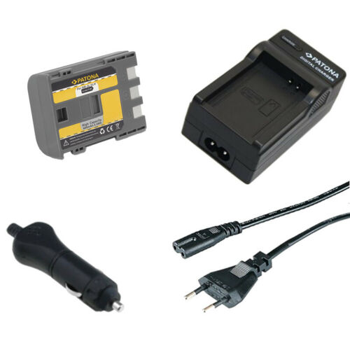 caricabatteria casa//auto per Canon MV6I,MV6IMC,MV790,MV800 Batteria Patona