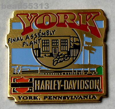 HARLEY DAVIDSON YORK PENNSYLVANIA FINAL ASSEMBLY PLANT VEST JACKET PIN