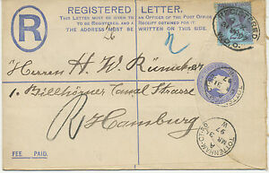 2441-1897-QV-2-D-postal-stationery-registered-env-uprated-w-2-1-2-D-RARE-POSTMKS