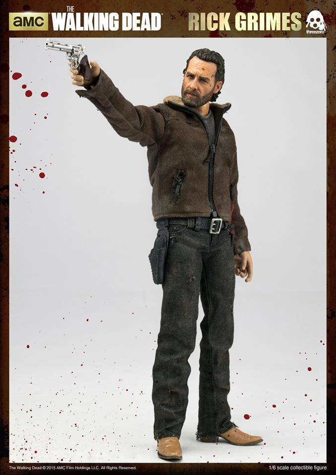 WALKING DEAD  RICK GRIMES 1 6 Acción Figura 12  THREEZERO
