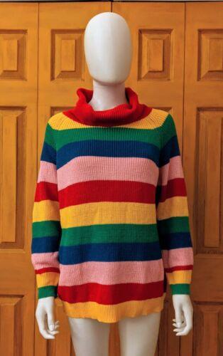 Women's Trendy Rainbow Turtleneck Knit