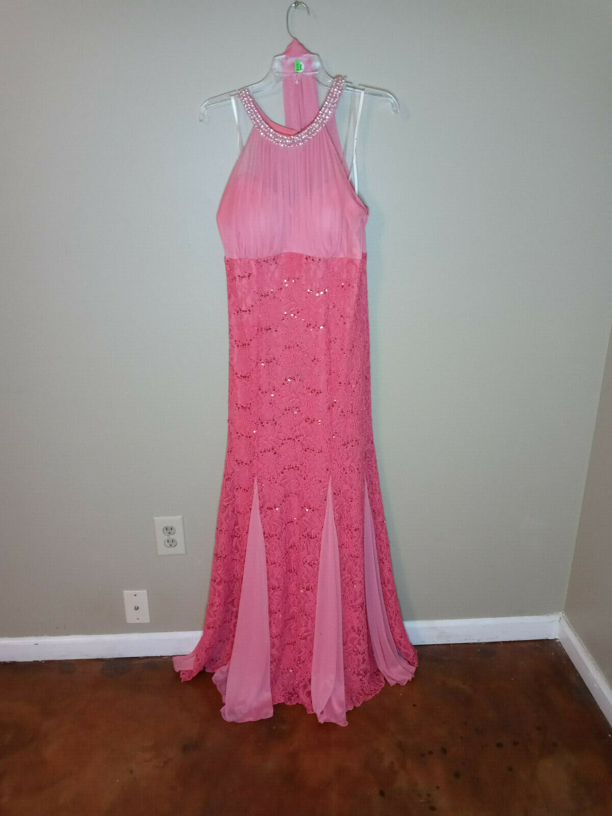Beautiful coral mermaid maxi dress for special oc… - image 1