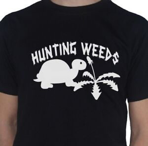Tortoise-Turtle-T-Shirt-Hunting-Weeds-Dandelion-Reptile-by-My-Cup-Of-Tee