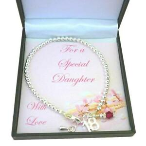 Image Is Loading 18th Birthday Gift Birthstone Bracelet For Daughter