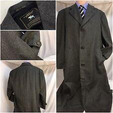 Hart Schaffner Marx Overcoat 44R Gray 100% Wool Worn 1x Made In Canada  YGI 2757