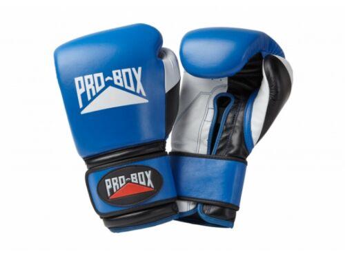 *FREE* Pro Box Pro-Spar Leather Sparring Gloves Blue Boxing Kickboxing Training