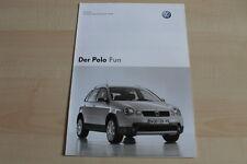 97798) VW Polo 9N Fun - Preise & Extras - Prospekt 12/2003
