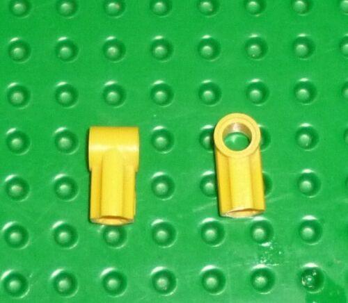 AXLE /& PIN CONNECTORS ANGLED #1 LEGO TECHNIC 32013 YELLOW x 2 TK208