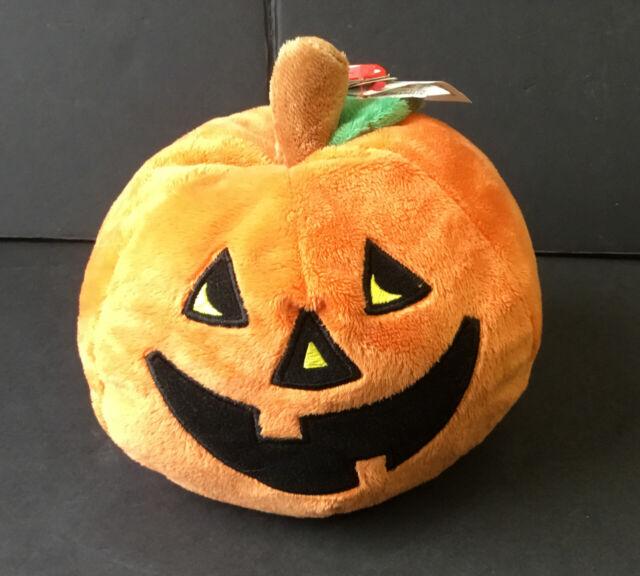 TY Pluffies Gilbert the Pumpkin Beanie Plush Toy Halloween NWT!!