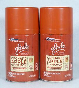 2 Glade Automatic Spray Refills Orchard Apple Cinnamon