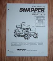 SNAPPER LT145H33GBV, LT145H38GBV  ILLUSTRATED PARTS LIST MANUAL