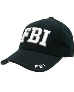fb173c5b97d Mens Mlitary Combat Black FBI SECURITY ARMY SWAT Baseball Cap Hat ...