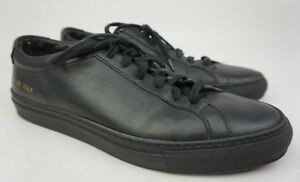 aa053f3df3ff8 Image is loading Common-Projects-Mens-Original-Achilles-Low-Black-Sneakers-