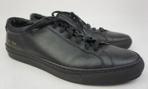 1474d0479305 Image is loading Common-Projects-Mens-Original-Achilles-Low-Black-Sneakers-