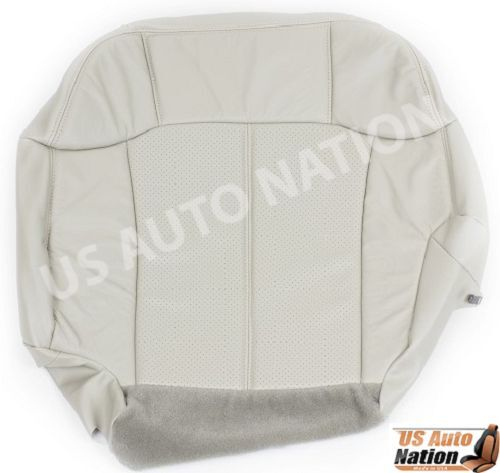 2002 Cadillac Escalade Driver Side Bottom Perforated Leather Seat Cover Tan