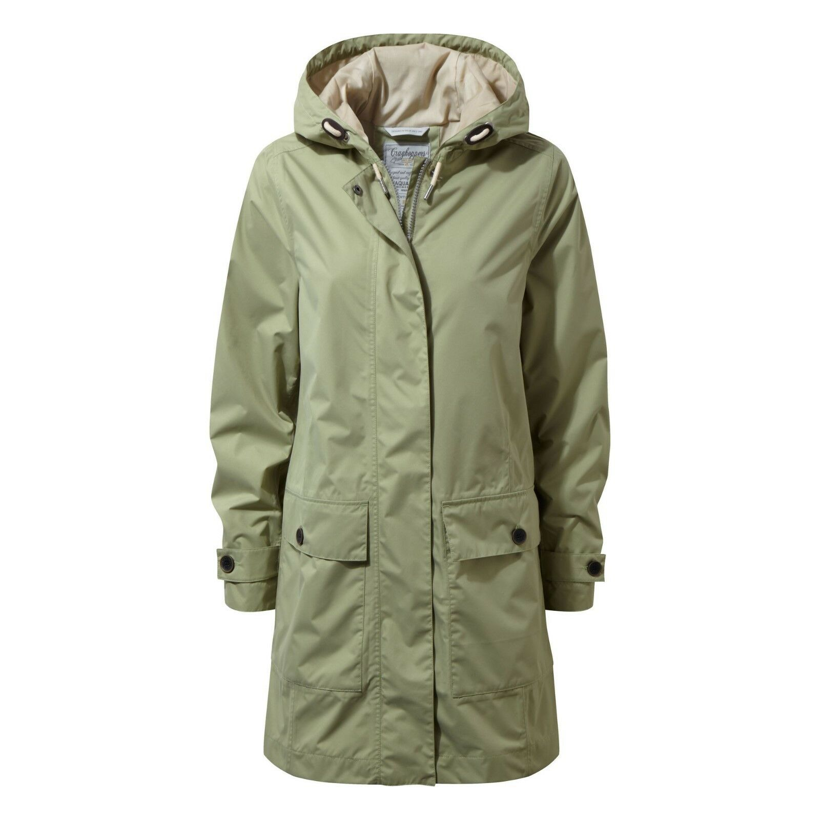 Craghoppers Women's Kylie Waterproof Long Coat - Bush Green