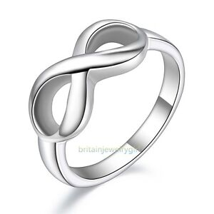 Stainless Steel Polish  Infinity Women Promise Engagement Wedding Band Size 5 11 by Unbranded