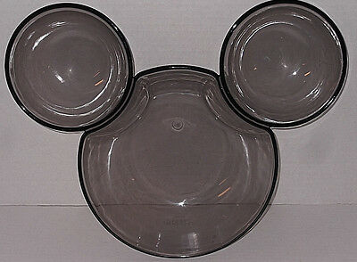 Disney Mickey Mouse Chip and Dip Bowl Smoky Gray Plastic