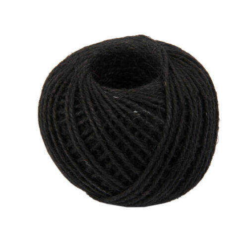 50M Wrap Gift Jute Rope Ribbon Twine Rope Cord Tie String Ball Black