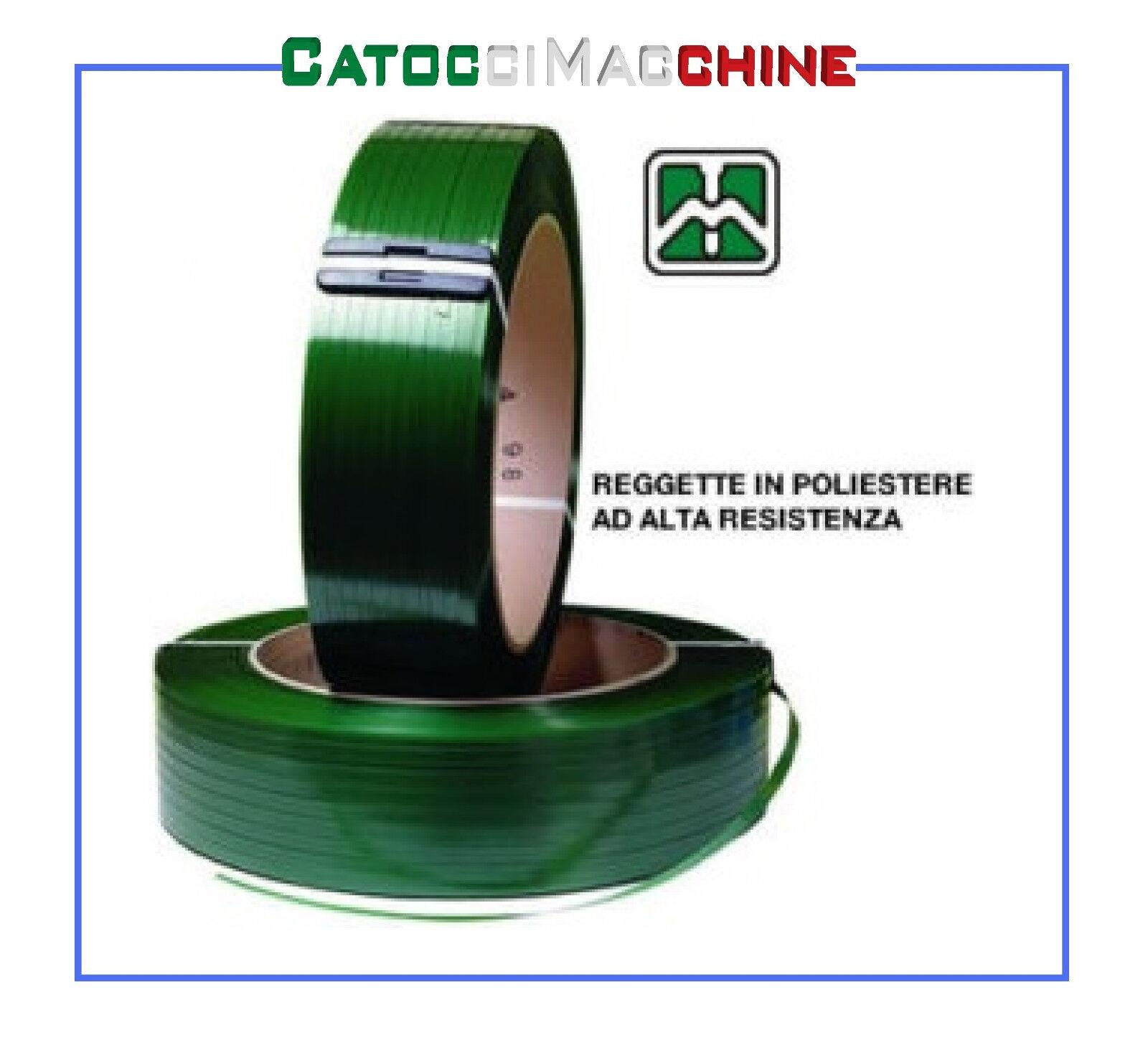 REGGIA Verde REGGETTA POLIESTERE 15 x 0,7 Verde REGGIA 1750 metri - diametro bobina 400 mm 62ee6a