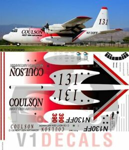 V1 Decals C-130 Hercules Coulson for 1/72 Scale Italeri Model Airplane Kit
