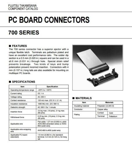 5 Fujitsu FCN-704Q060-AU//0 60 way straight pcb header plug for idc cable socket