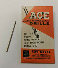 Pack Of 12 54 Cobalt Wire Drill Bit 135 Split Point Usa Made