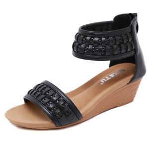 Elegant Simil Absatz X 5 Sandalen Flachem Keilabsätze 4 Komfortabel 8mnwvNO0