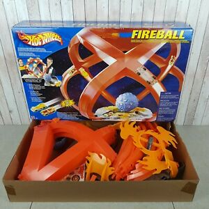 Hot-Wheels-RARO-bola-de-fuego-Raceway-Motorizado-29422-Mattel-en-caja-juguete-vintage-2001