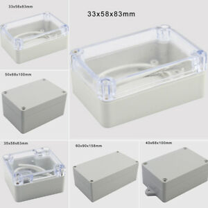 diy elektronik kunststoff projekt box geh use geh use wasserdicht 5 gr e ebay. Black Bedroom Furniture Sets. Home Design Ideas