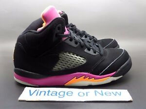 finest selection 9b2a2 0f258 Image is loading Girls-039-Nike-Air-Jordan-V-5-Black-