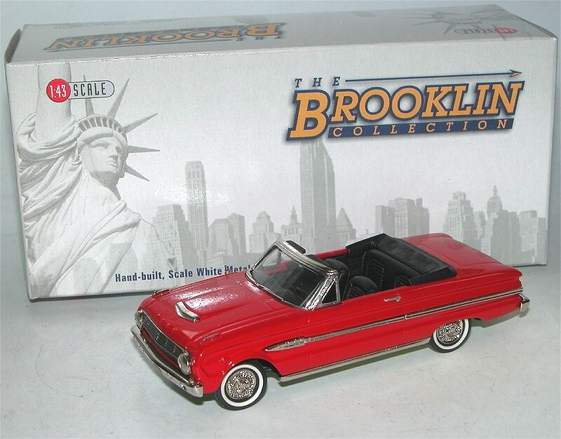 BROOKLIN BRK 112, 1963 FORD FALCON FUTURA Sports Converdeible Rangoon rojo, 1 43