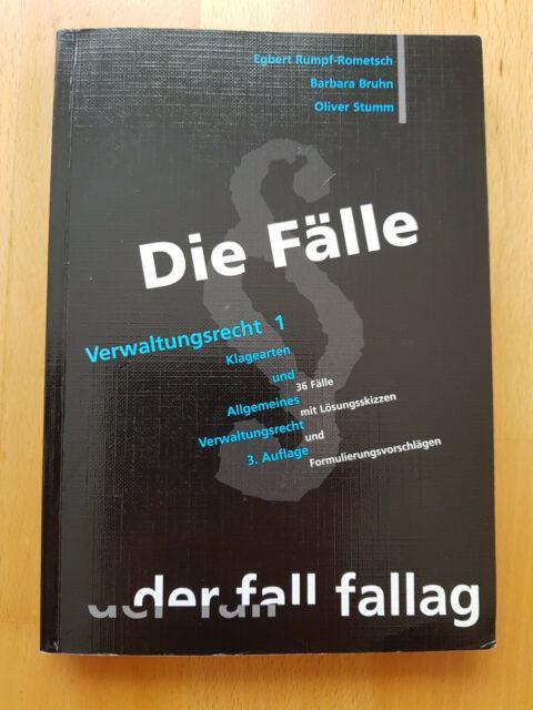 Die Fälle Verwaltungsrecht 1 / 3. Auflage 2003 / Rumpf-Rometsch Bruhn Stumm