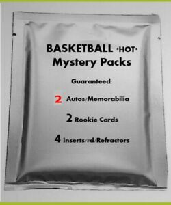 RARE-Basketball-HOT-PACK-NBA-2-Hits-Jersey-RC-Patch-Auto-d-Mosaic-PRIZM