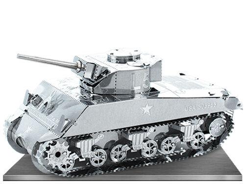 Metal Earth Sherman Tank 3d Modèle Métal + Brucelles 012040