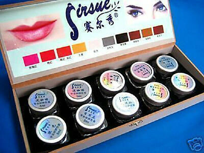Makeup Tattoo Eyebrows Lip Machine paste ink 10 colour