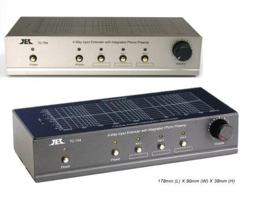 TCC TC-754  BLACK Finish RIAA Phono Preamp w// 3 AUX Inputs and Output Control