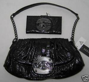 Lot Sac A Logo Luster Portefeuille Vernis Guess Main Noir Marciano Bag By P7pwT7nUOq