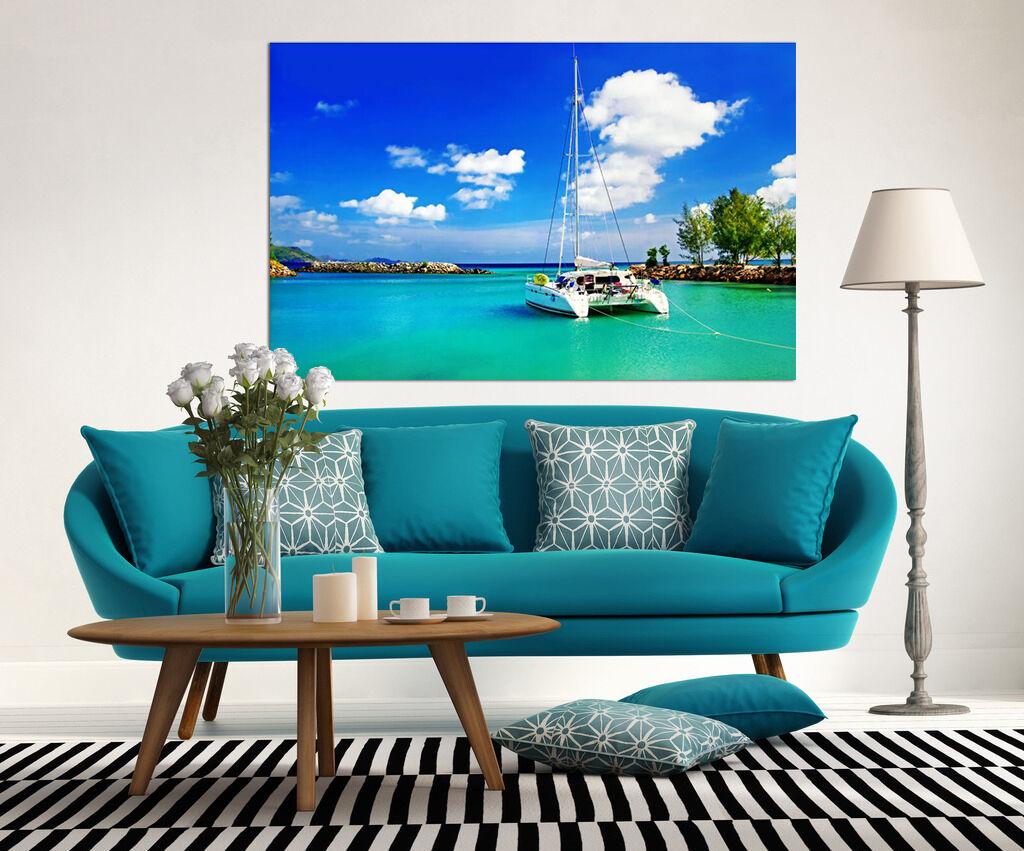 3D Blaues Wasser, Stiefele 433 Fototapeten Wandbild BildTapete Familie AJSTORE DE