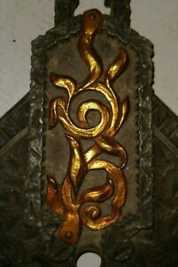 VTG-Set-of-4-Deco-Nouveau-Arts-amp-Crafts-Wall-Sconce-Frames-1900-039-s-for-Completion
