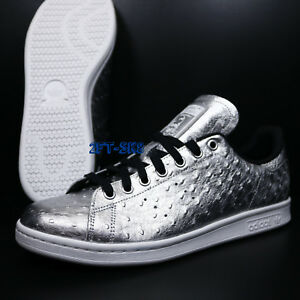 new arrival 33c10 056a4 Details about ADIDAS ORIGINALS STAN SMITH SILVER METALLIC WHITE MENS  ATHLETIC SHOES/S81233.279