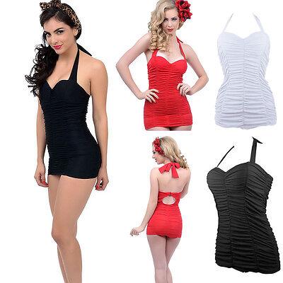 New HOT Women's Plus Size Swimsuits Wrinkle One-Piece Bikini Swimwear Swim Dress