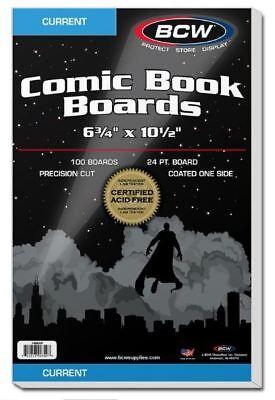 Acid free comic book backing boards