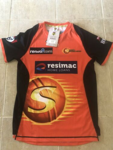 Perth Scorchers BBL Jersey Size Medium Brand New With Tags Majestic